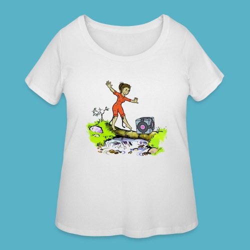 Testing Everywhere! - Women's Curvy T-Shirt