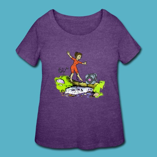 Testing Everywhere! - Women's Curvy T-Shirt
