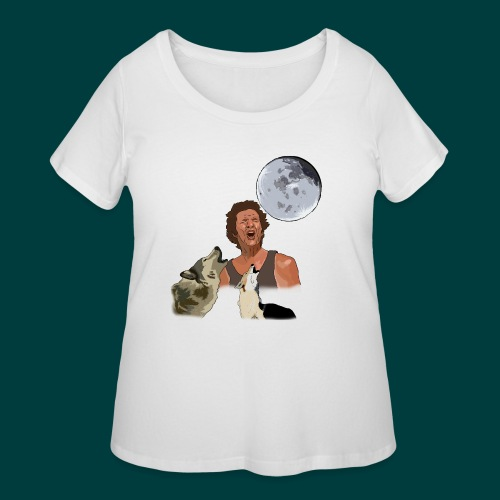 Bark at the moon - Women's Curvy T-Shirt