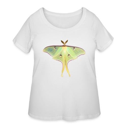 GREEN LUNA MOTH - Women's Curvy T-Shirt