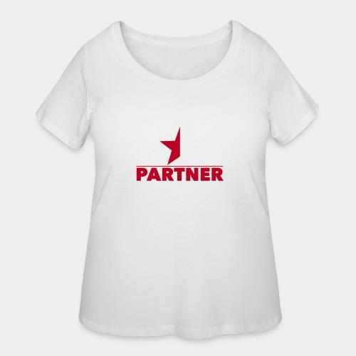 Half-Star Partner - Women's Curvy T-Shirt