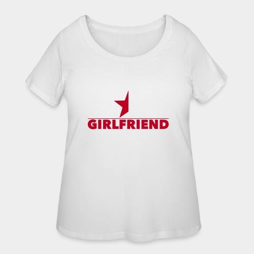 Half-Star Girlfriend - Women's Curvy T-Shirt