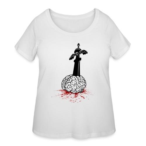 Sword in Brain - Women's Curvy T-Shirt