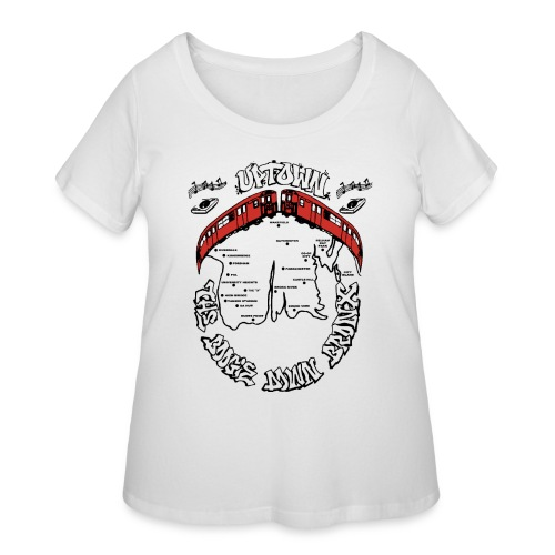 (artwork_195348) THE BOOGIE DOWN BRONX - Women's Curvy T-Shirt