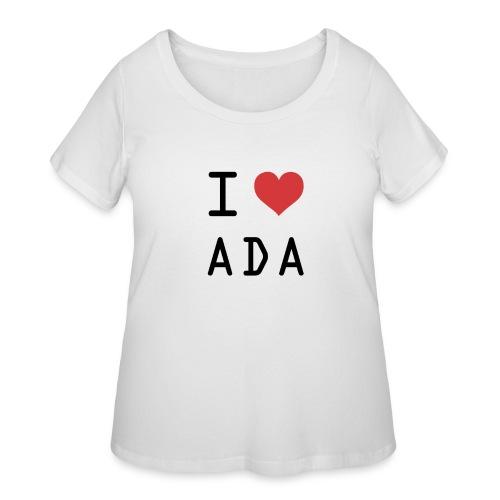 I HEART ADA (Cardano) - Women's Curvy T-Shirt