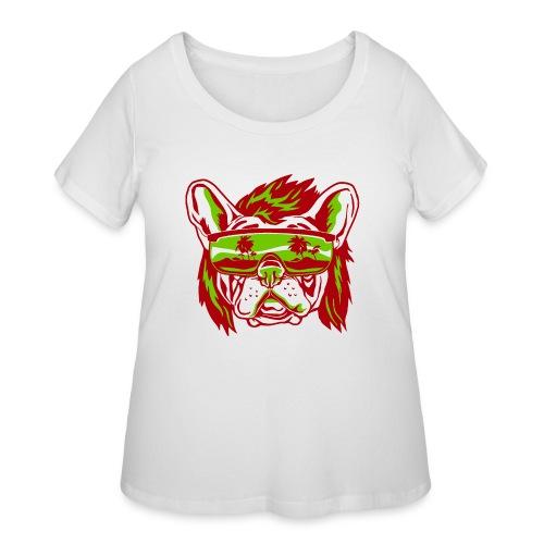 Beach Pooch - Women's Curvy T-Shirt