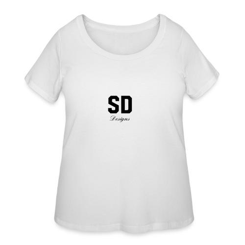 SD Designs blue, white, red/black merch - Women's Curvy T-Shirt