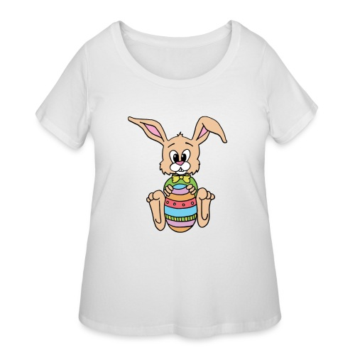 Easter Bunny Shirt - Women's Curvy T-Shirt