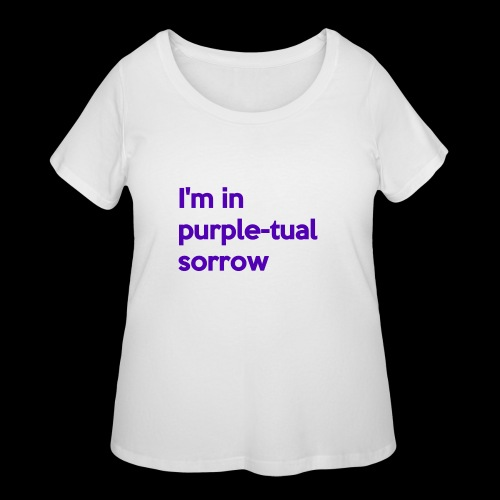 Purple-tual sorrow - Women's Curvy T-Shirt