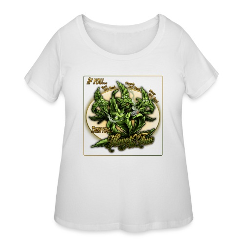 See No Bud by RollinLow - Women's Curvy T-Shirt