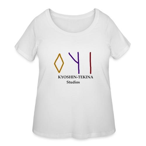 Kyoshin-Tekina Studios logo (black test) - Women's Curvy T-Shirt