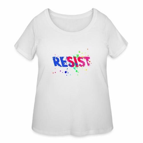 Resist - Women's Curvy T-Shirt