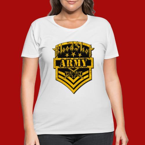 BloodShot ARMYLogo Gold /Black - Women's Curvy T-Shirt