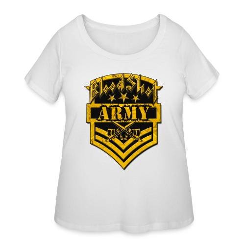 BloodShot ARMYLogo Gold /Black - Women's Curvy T-Shirt