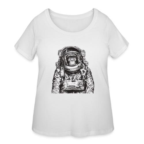 Monkey Astronaut - Women's Curvy T-Shirt