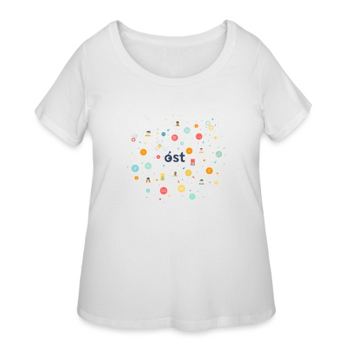 ost illustration - Women's Curvy T-Shirt