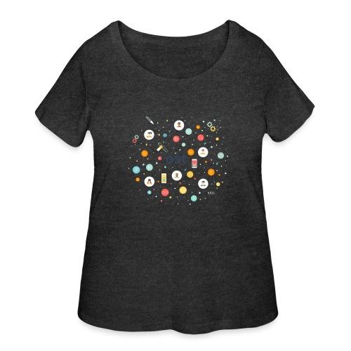 ost illustration - Women's Curvy T-Shirt