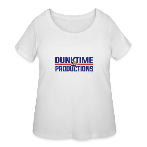 DUNKTIME Retro logo - Women's Curvy T-Shirt