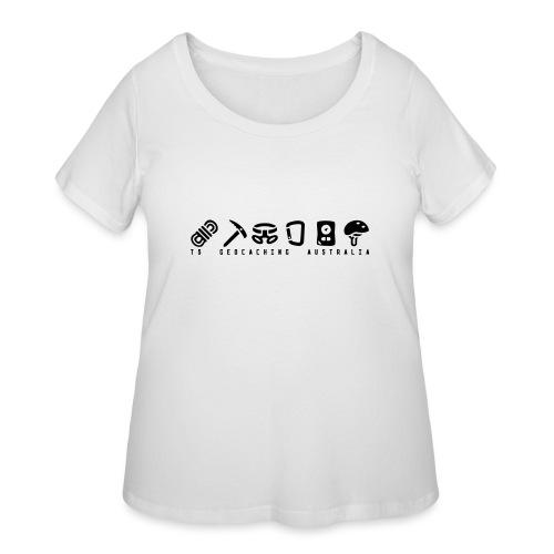 T5 Geocaching Australia - Women's Curvy T-Shirt