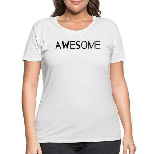 AWESOME - Women's Curvy T-Shirt