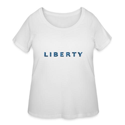Liberty Libertarian Design - Women's Curvy T-Shirt