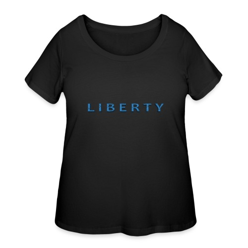 Liberty Libertarian Design - Women's Curvy T-Shirt