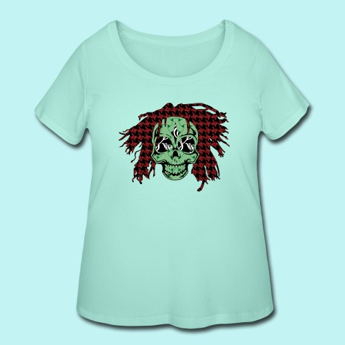 BOB MARLEY SKULLY - Women's Curvy T-Shirt