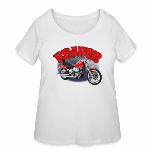 Motorcycle Reaper - Women's Curvy T-Shirt