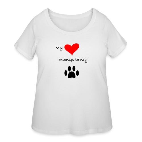 Dog Lovers shirt - My Heart Belongs to my Dog - Women's Curvy T-Shirt