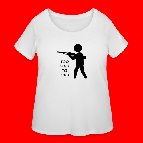 OxyGang: Too Legit To Quit Products - Women's Curvy T-Shirt