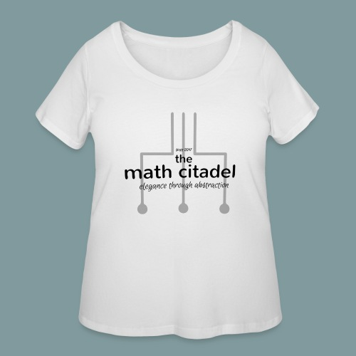 Abstract Math Citadel - Women's Curvy T-Shirt