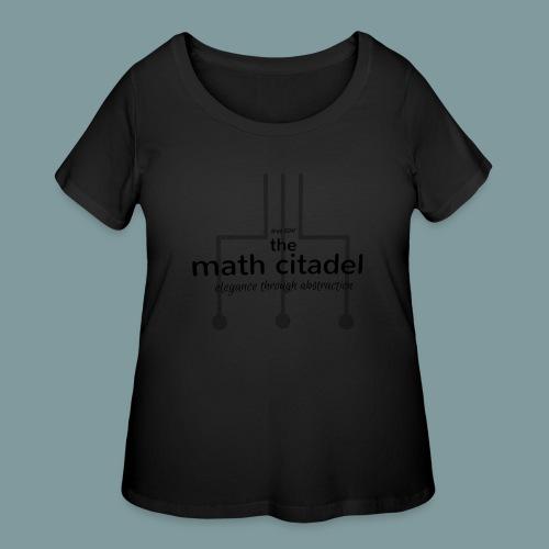 Abstract Math Citadel - Women's Curvy T-Shirt