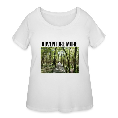 adventure more - Women's Curvy T-Shirt