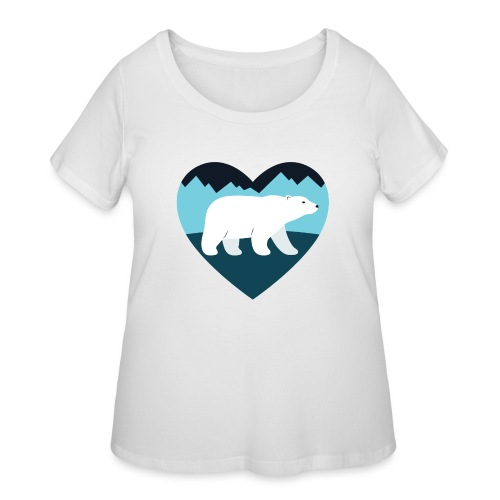 Polar Bear Love - Women's Curvy T-Shirt