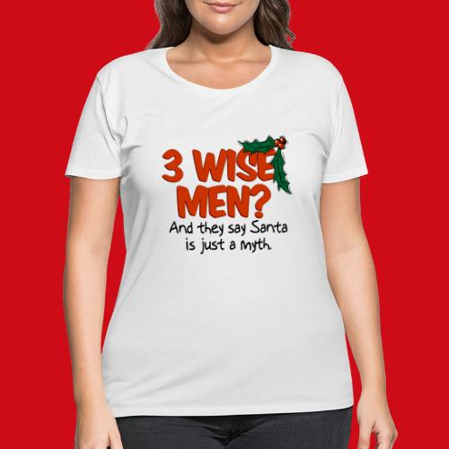 3 Wise Men? - Women's Curvy T-Shirt