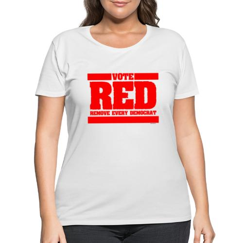 Remove every Democrat - Women's Curvy T-Shirt