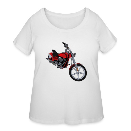 Motorcycle red - Women's Curvy T-Shirt