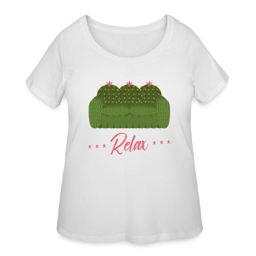 Relax! - Women's Curvy T-Shirt