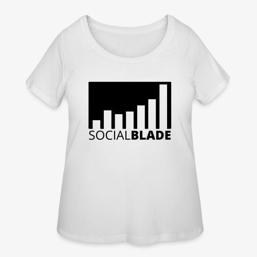 SB Blackout Logo - Women's Curvy T-Shirt