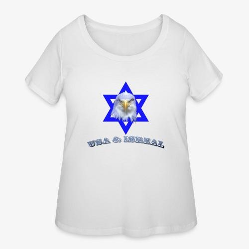 USA & ISREAL - Women's Curvy T-Shirt