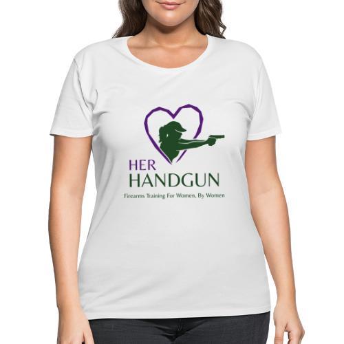Official HerHandgun Logo with Slogan - Women's Curvy T-Shirt