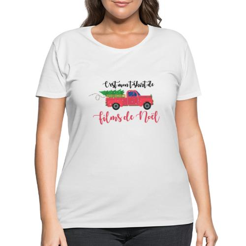 t-shirt de films de noel - Women's Curvy T-Shirt