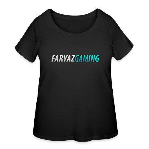 FaryazGaming Theme Text - Women's Curvy T-Shirt