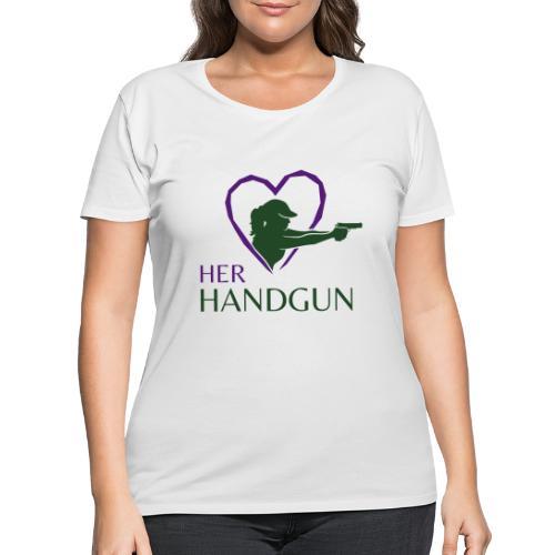 Official HerHandgun Logo - Women's Curvy T-Shirt