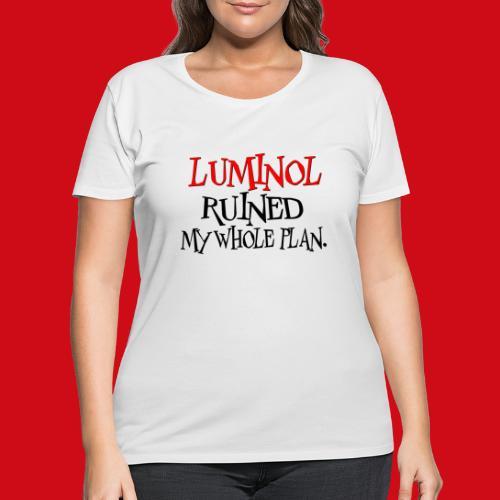 Luminol Ruined my Whole Plan - Women's Curvy T-Shirt