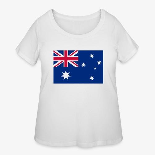 Bradys Auzzie prints - Women's Curvy T-Shirt