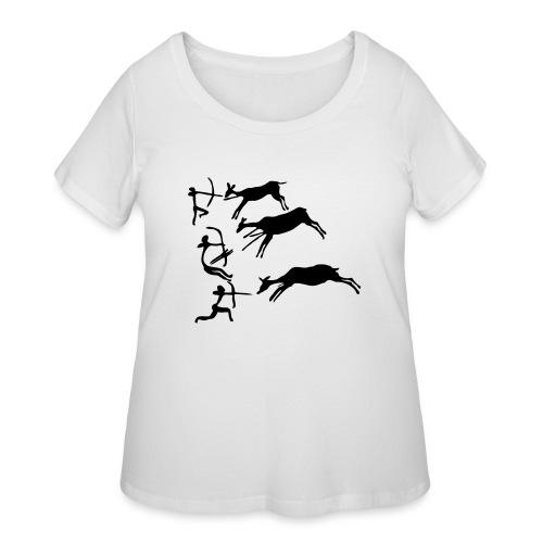 Lascaux Cave Painting - Women's Curvy T-Shirt