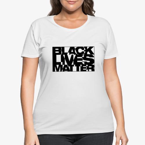 Black Live Matter Chaotic Typography - Women's Curvy T-Shirt