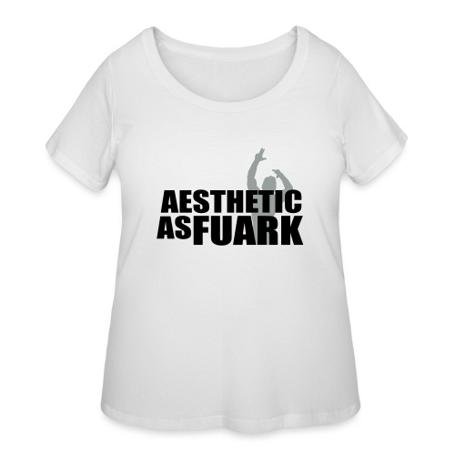 Zyzz Aesthetic as FUARK - Women's Curvy T-Shirt