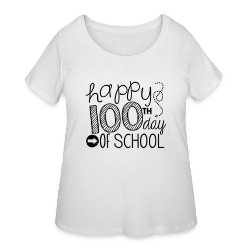 Happy 100th Day of School Arrows Teacher T-shirt - Women's Curvy T-Shirt